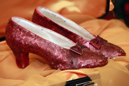 """The Wizard of Oz"" Ruby Red Slippers"