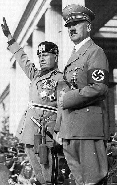 The Godfathers of Fascism and Racial Mass Murder, Benito Mussolini and Adolf Hitler