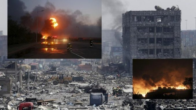 What are China covering up with the Tianjin explosions?