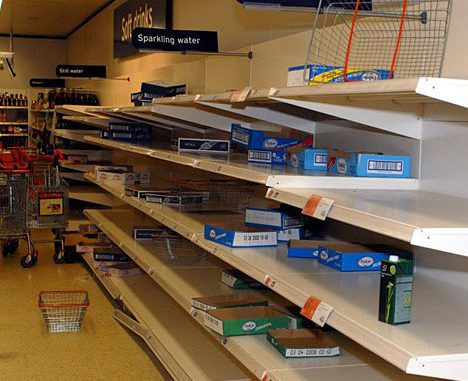 Britain urged to stockpile food and water ahead of worldwide financial collapse