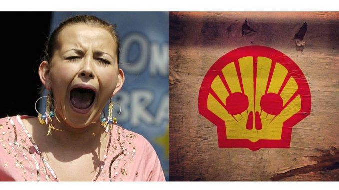 Charlotte Church protests Shell's arctic drilling by singing protest song