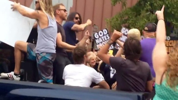 Rock group The Foo Fighters hit back at Westboro Baptist Church Rickrollin' them in this hillarious video