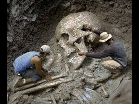 Were giant human skulls deliberately destroyed as part of a cover-up?