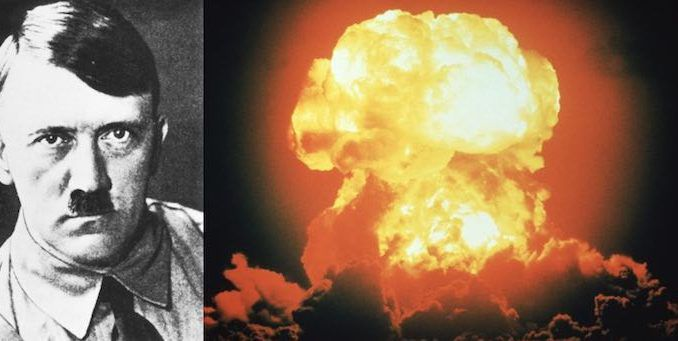 Hiter created an atomic bomb during world war 2