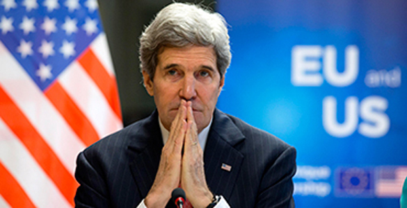 John Kerry has warned that the US dollar is at risk of collapsing