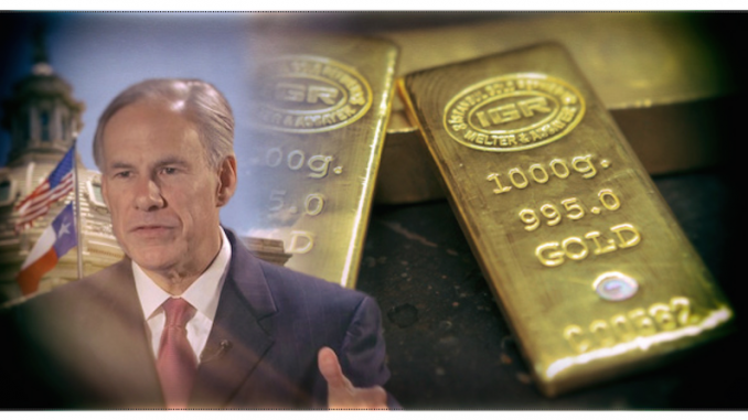 Texas introduced gold-backed currency