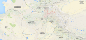 The pink area on the map shows the Badakhshan Province
