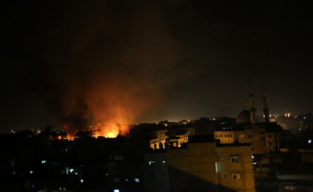 September 2015 - Israel have launched an airstrike on Gaza
