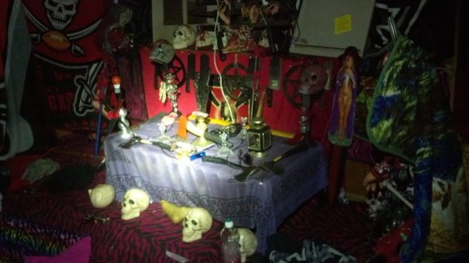Satanic alter discovered by cops in Florida, U.S.