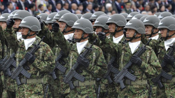 New law passed in Japan will allow Japanese troops to fight abroad for the first time since World War 2