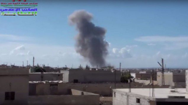 Russian airstrikes in Syria against ISIS