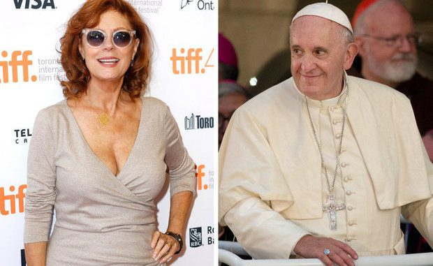 Actress Susan Sarandon says she is worried that Pope Francis will be assassinated during his visit to the U.S.