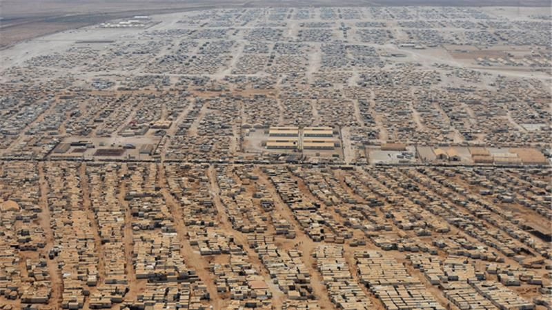 Syrian refugees in Zaatari refugee camp, Jordan