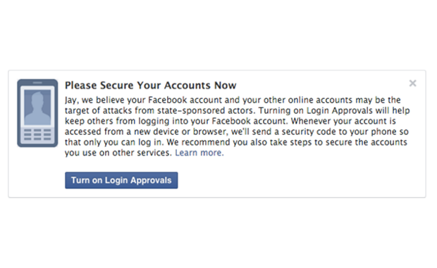 Facebook now notifies its users if the government is spying on them