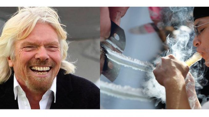 Richard Branson says the UN is urging nations worldwide to decriminalise drugs