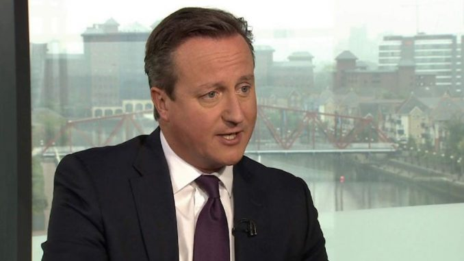 "British PM David Cameron says he is prepared to ""press the red [nuclear] button"" if necessary"
