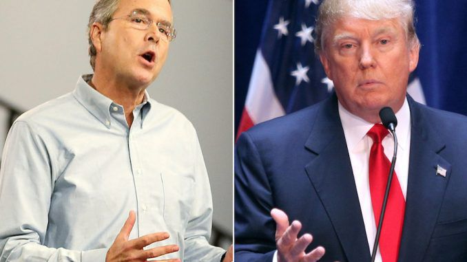 Jeb Bush tells crowd to vote for Donald Trump
