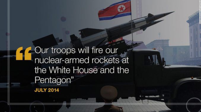 The United States have said they are making preparations to retaliate against North Korea's nuclear 'threat'