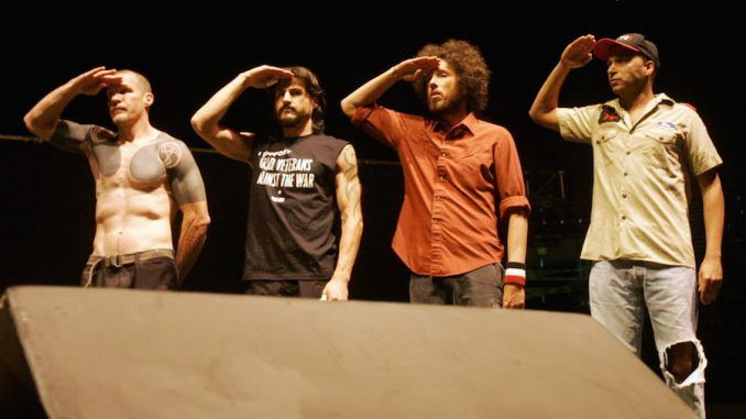 Rage against the machine say that US elections are rigged and ISIS is fake