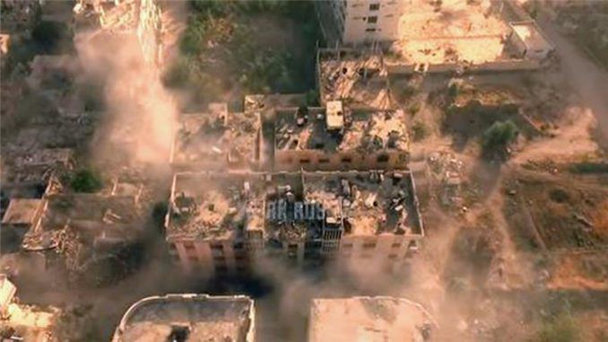 Russian drone footage shows devastation caused by ISIS mission