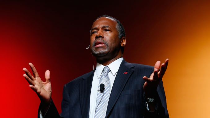 Presidential candidate Ben Carson said in a speech that he believes the New World Order (NWO) are trying to destroy America