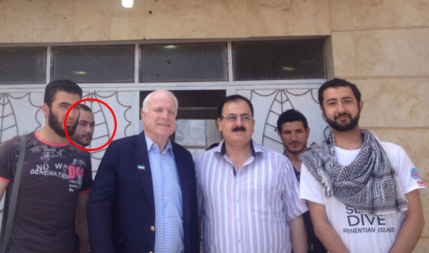 Senator John McCain has been caught yet again - this time posing with the ISIS chief a few years ago