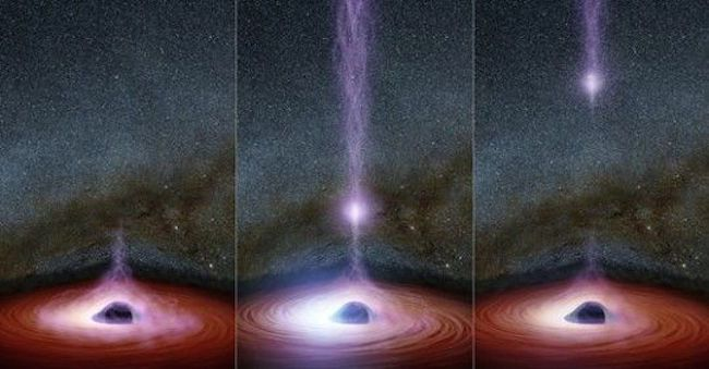 NASA say something has come out of a black hole for the first time ever