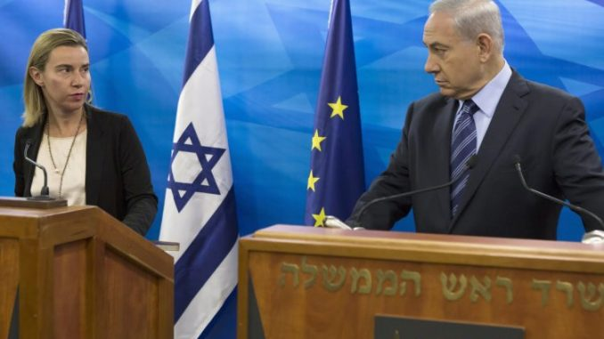 Israel temporarily suspends contact with the European Union over labelling row
