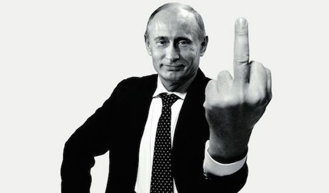 Vladimir Putin vows to catch ISIS, even if they're sitting on the toilet!