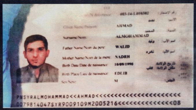 A German minister has said the Syrian passport found in Paris may be a fraud