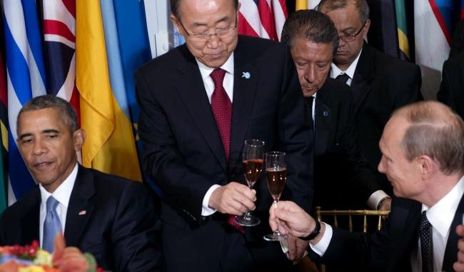 UN chief congratulates Russia on their leading role in the fight against ISIS