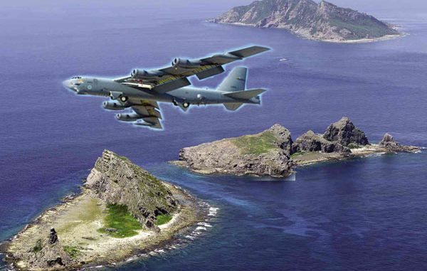 B-52 bombers flown over the disputed islands near China