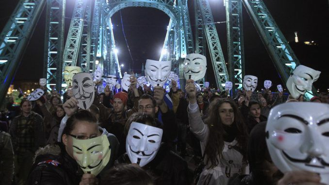 Anarchy on the streets of London: Police fear unrest as the million mask march scheduled to take place on November 5th, 2015