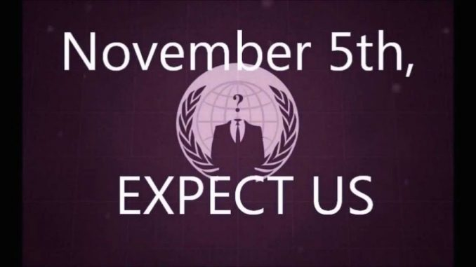 Anonymous say November 5th 2015 will be the date that 'all hell breaks loose'