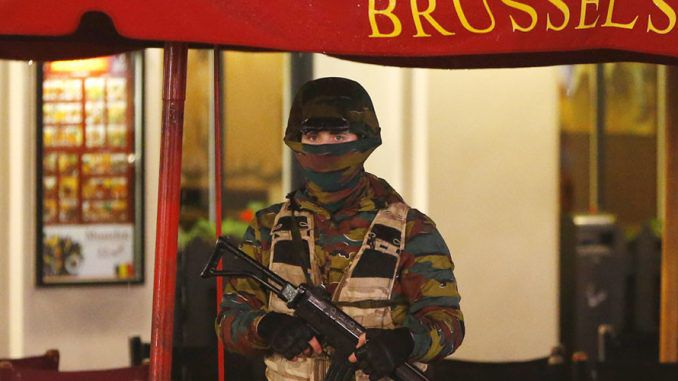 Brussels on complete lock-down amid terrorist attack fears. Residents have been told to take shelter and clear the streets.
