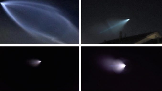 Is it a UFO or a missile? Strange objects light up the sky across California on Saturday night