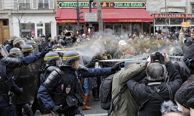 Over 200 protestors detained at Paris climate change protest