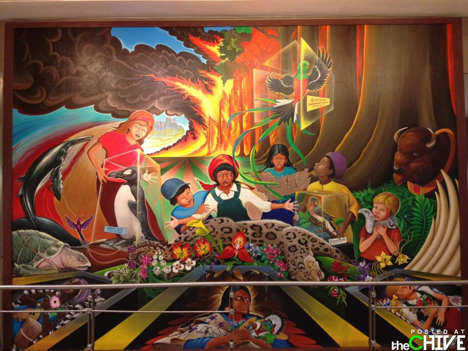 Denver International Airport picture depicting horrific destruction