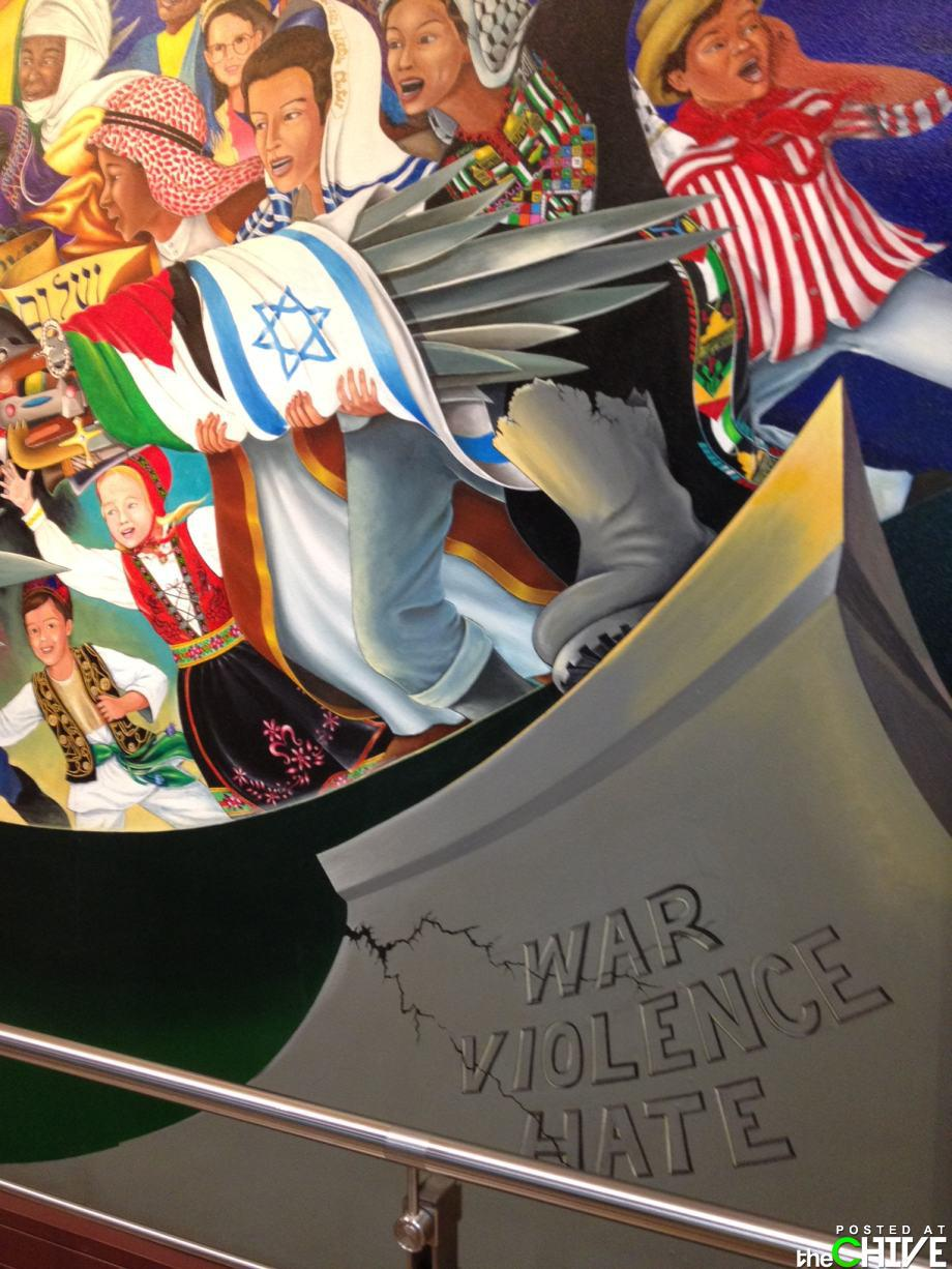 Denver International Airport - war, violence, hate