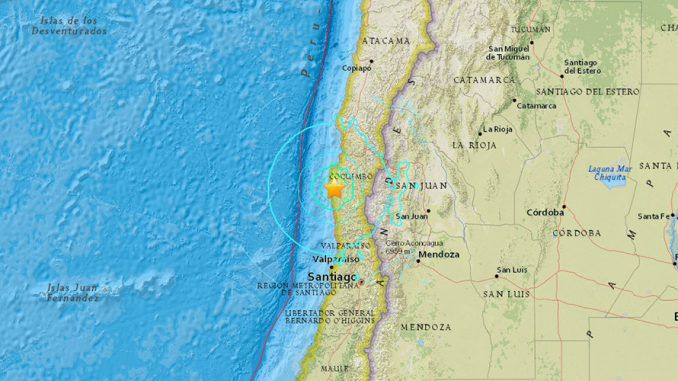 6.8 earthquake hits the Chilean coast