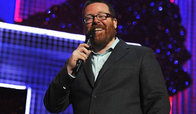 UK comedian Frankie Boyle calls out the Snoopers Charter and Theresa May