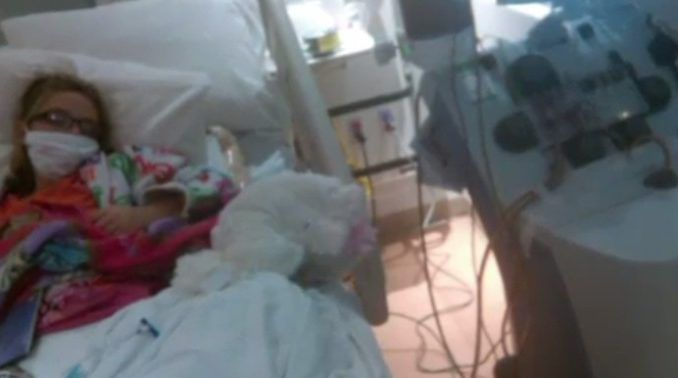 A family have said that a girl has become paralysed and lost her sight after receiving the flu shot