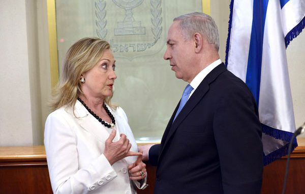 Hillary Clinton announces her undying love for Israeli Prime Minister Benjamin Netanyahu