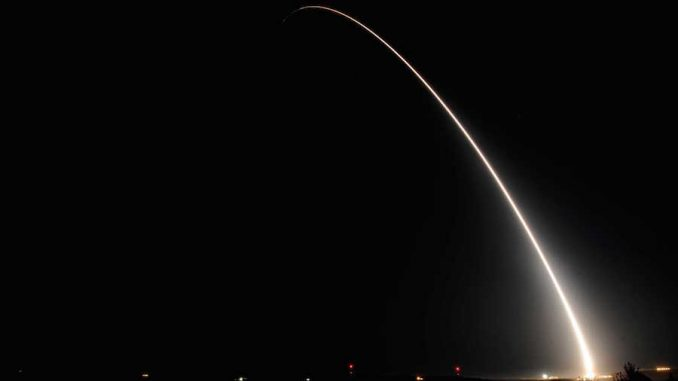 A second Trident II missile was been launched in California on Monday afternoon