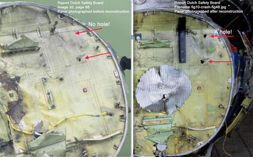 DUTCH SAFETY BOARD TAMPERING WITH MH17 FUSELAGE EVIDENCE