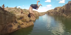 Arizona trampoline cliff jumping