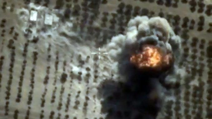 Russian fighter jets completely destroy ISIS oil tankers