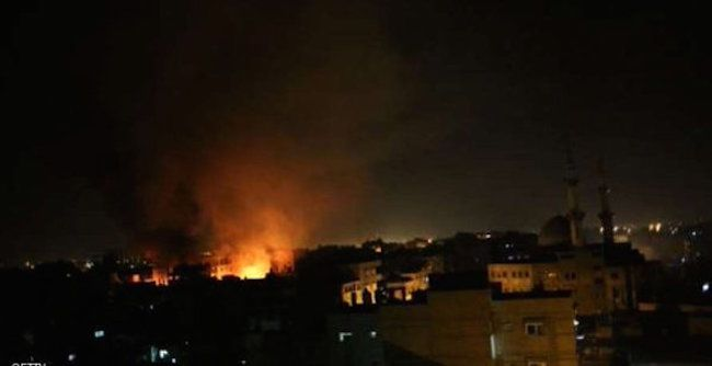 Israeli jets strike Gaza on Sunday 13 December