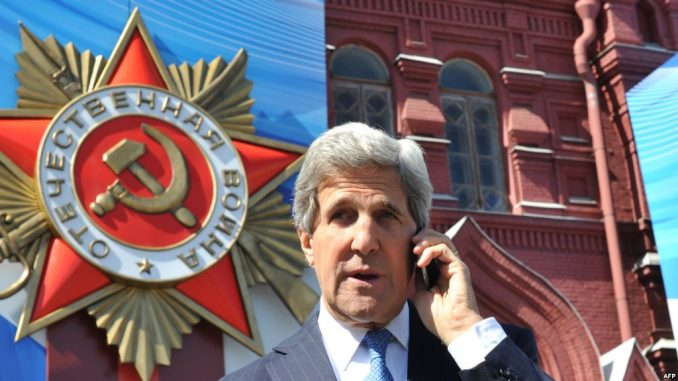 John Kerry visits Moscow for a one-on-one meeting with President Putin