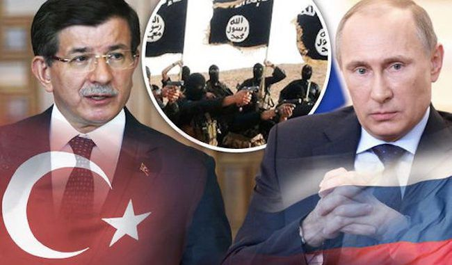 Russia continue to accuse Turkey of being ISIS allies, stepping up World War III rhetoric